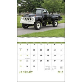Treasured Trucks Spiral Calendar for Marketing