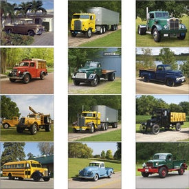 Personalized Treasured Trucks Stapled Calendar