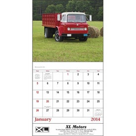 Treasured Trucks Stapled Calendar Branded with Your Logo