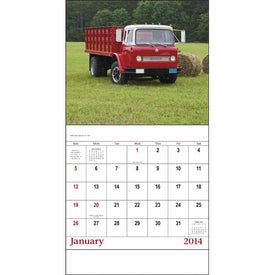 Imprinted Treasured Trucks Stapled Calendar