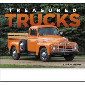 Treasured Trucks Stapled Calendar Imprinted with Your Logo