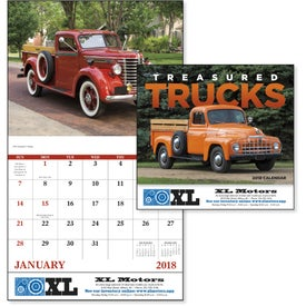 Branded Treasured Trucks Stapled Calendar