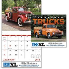 Branded Treasured Trucks Stapled Calendar