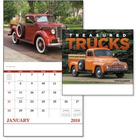 Printed Treasured Trucks Stapled Calendar