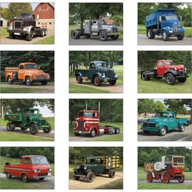 Monogrammed Treasured Trucks Stapled Calendar