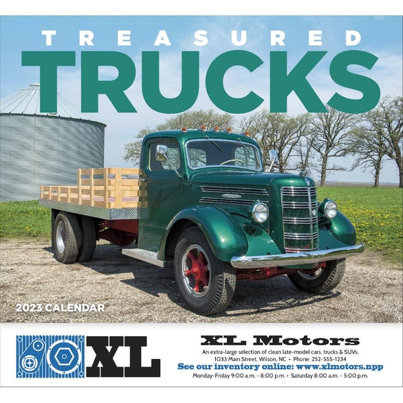 Treasured Trucks Stapled Calendar