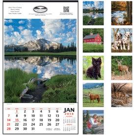 Vertical Hanger Calendar Branded with Your Logo