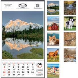 Company Vertical Hanger Calendar