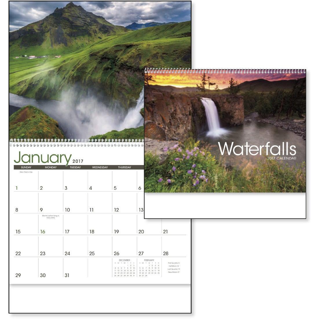 Waterfalls Appointment Calendar (2017)   Custom Calendars   2.76 Ea.