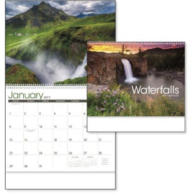 Waterfalls Appointment Calendar Imprinted with Your Logo