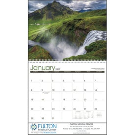 Advertising Waterfalls Appointment Calendar