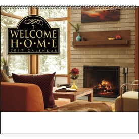 Welcome Home Spiral Calendar with Your Logo