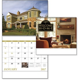 Printed Welcome Home Spiral Calendar