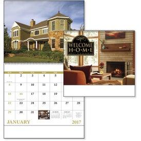 Printed Welcome Home Spiral Calendar