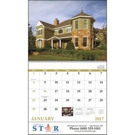 Personalized Welcome Home Spiral Calendar