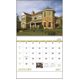 Welcome Home Spiral Calendar for Customization