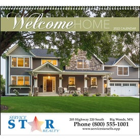Welcome Home Spiral Calendar Printed with Your Logo