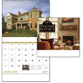 Welcome Home Stapled Calendar for Your Organization