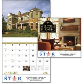 Advertising Welcome Home Stapled Calendar