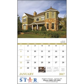 Welcome Home Stapled Calendar for your School