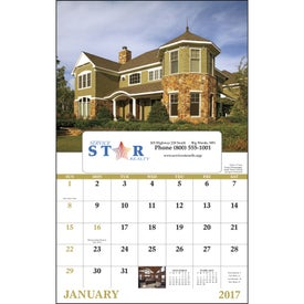 Welcome Home Window Calendar for Advertising