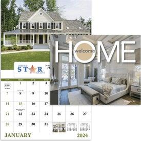 Printed Welcome Home Window Calendar