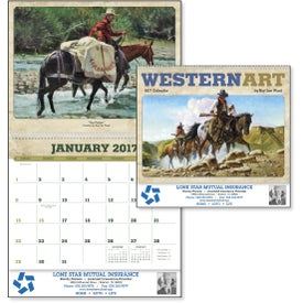 Personalized Western Art by Roy Lee Ward Appointment Calendar