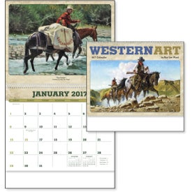 Western Art by Roy Lee Ward Appointment Calendar for Advertising