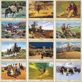 Imprinted Western Art by Roy Lee Ward Appointment Calendar