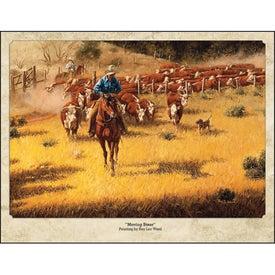 Monogrammed Western Art by Roy Lee Ward Appointment Calendar