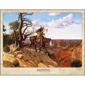 Western Art by Roy Lee Ward Appointment Calendar Imprinted with Your Logo