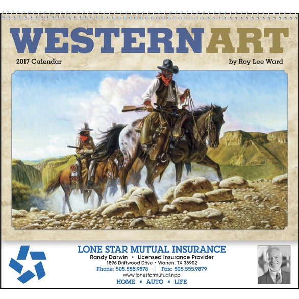 Western Art by Roy Lee Ward Appointment Calendar