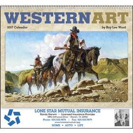 Custom Western Art by Roy Lee Ward Appointment Calendar