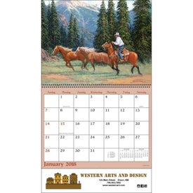 Imprinted Western Art Wall Calendar