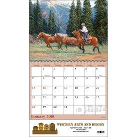 Imprinted Western Art Wall Calendar
