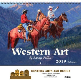 Western Art Wall Calendar (Spiral)