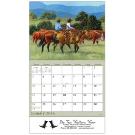 Printed Western Art Wall Calendar