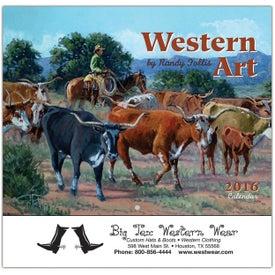 Western Art Wall Calendar