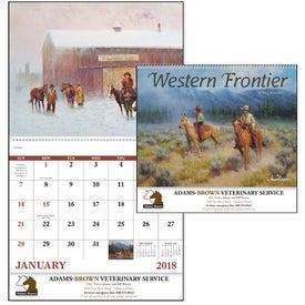 Custom Western Frontier Spiral Calendar