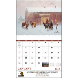 Personalized Western Frontier Spiral Calendar