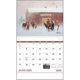 Western Frontier Spiral Calendar for your School