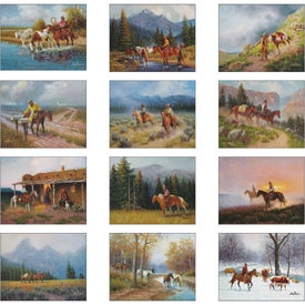 Western Frontier Spiral Calendar Printed with Your Logo