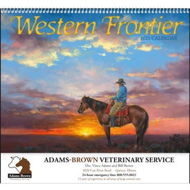Western Frontier Spiral Calendar for Your Company