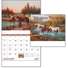 Custom Western Frontier Stapled Calendar
