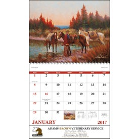 Western Frontier Stapled Calendar for Your Company