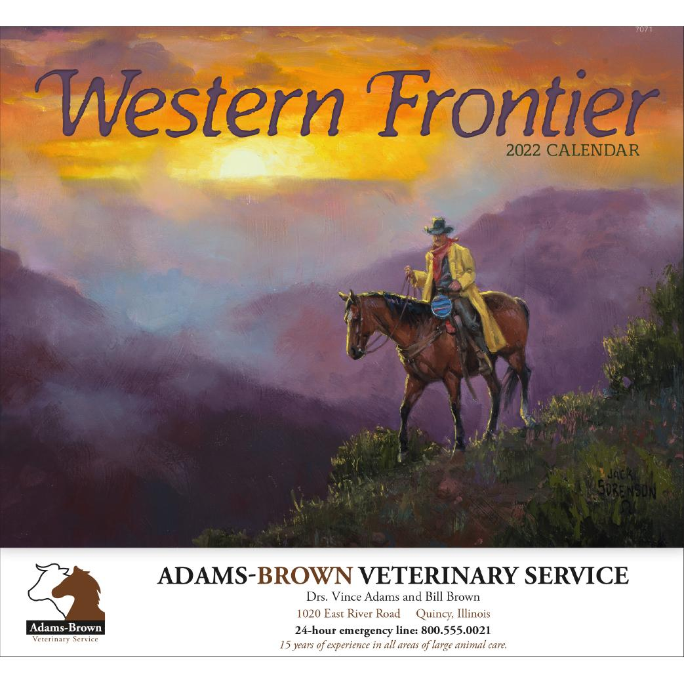 Western Frontier Stapled Calendar (2020)