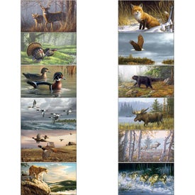 Wildlife Art Calendar by Hautman Brothers Imprinted with Your Logo
