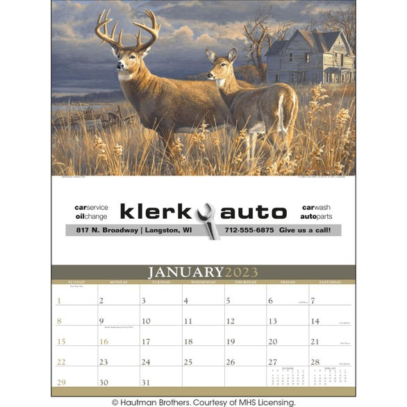 Wildlife Art Calendar by Hautman Brothers