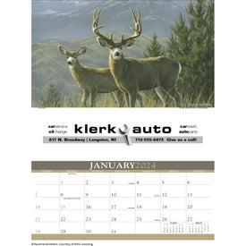 Logo Wildlife Art Calendar by Hautman Brothers