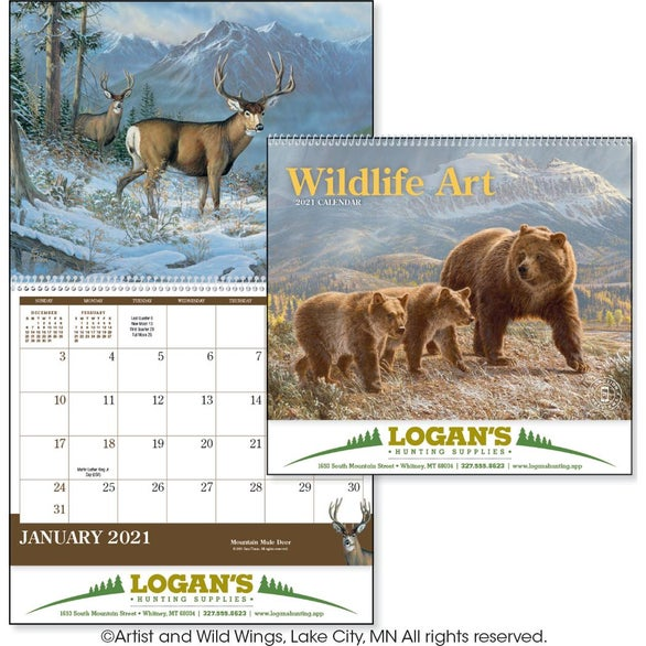 See Item Wildlife Art Appointment Calendar